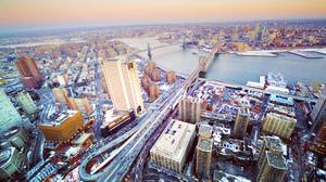 Architecture Brooklyn Bridge Building City Cityscape Cloud Manhattan Bridge Metropolis New York Scen 2048x1360 Wallpaper