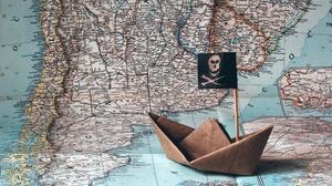 Map Origami Paper Paper Boat Pirate 2048x1365 Wallpaper