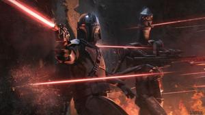 Star Wars The Mandalorian IG 11 Bounty Hunter Battle Blaster Artwork 2560x1440 Wallpaper