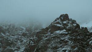 Mountains Landscape Mist Rocks Snow Nature 6000x4000 Wallpaper