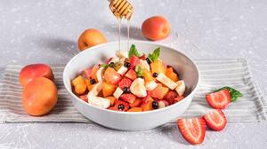 Apricot Breakfast Fruit Strawberry 2048x1362 Wallpaper