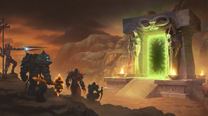 World Of Warcraft World Of Warcraft Classic Dark Portal World Of Warcraft The Burning Crusade Allian 6840x3251 Wallpaper