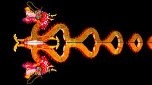 Chinese New Year Dragon Light Night Reflection 5824x3276 Wallpaper