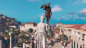 Assassins Creed Origins Bayek Video Games Egypt Screen Shot Video Game Characters Video Game Landsca 3840x2160 wallpaper