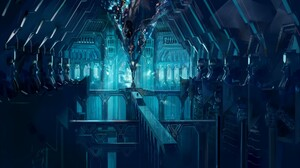 The Lord Of The Rings Lonely Mountain Erebor Blue Cyan 2000x1189 Wallpaper