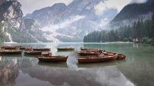 Lake Water Nature Landscape Forest Boat 3000x2000 Wallpaper