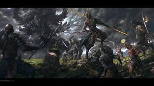 Fantasy Battle 2400x1201 Wallpaper