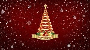 Christmas Tree Happy New Year Snowflake 3840x2160 Wallpaper