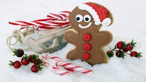 Candy Cane Christmas Cookie Gingerbread Sled 6000x4000 Wallpaper
