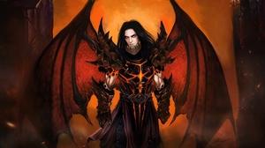 Armor Dark Deathwing World Of Warcraft Demon Dragon Man Wings World Of Warcraft 1920x1080 Wallpaper