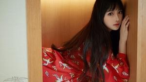 Asian Black Hair Long Hair Pyjamas Wardrobe Shika XiaoLu 4032x3024 wallpaper