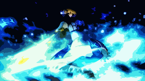 Abstract Anime Fate Zero Saber Fate Series 1920x1080 Wallpaper