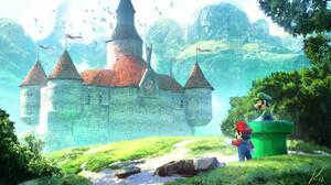 Castle Luigi Mario 1920x1088 Wallpaper