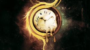 Artistic Clock 2560x1440 Wallpaper