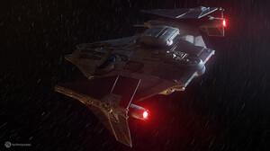 Rasmus Poulsen Tie Cruiser Star Wars Science Fiction Spaceship Vehicle Star Wars Ships 1920x1080 Wallpaper