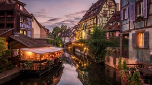 France Evening Canal Cafe 2048x1402 Wallpaper