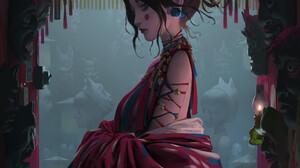 Zeen Chin Artwork Fantasy Art Fantasy Girl Women ArtStation 1920x2715 Wallpaper