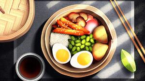 Ramen Food Concept Art Digital Art Japanese Art 1299x936 Wallpaper