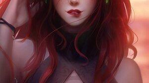 Warcraft World Of Warcraft Blizzard Entertainment Women Fantasy Girl Blood Elf Redhead Yellow Eyes P 933x1323 Wallpaper