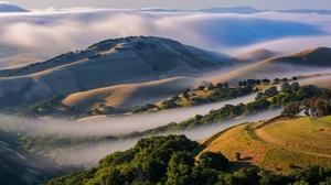 Nature Fog Hill 3000x2000 Wallpaper