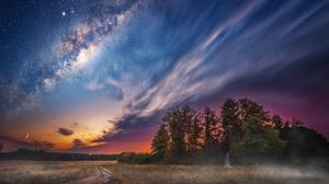 Milky Way Nature Night Sky Stars 2048x1367 wallpaper