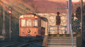 Train Train Station Original Anime 1920x1080 Wallpaper