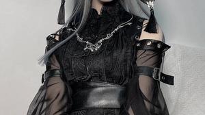 Portrait Women Model Costumes Dress Black Dress Looking At Viewer Studio Asian Women Indoors Indoors 800x1422 Wallpaper