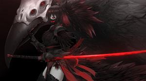 Anime Girls Dark Katana Skull Creepy Raven Dishwasher1910 RWBY Grimm RWBY Raven Branwen Nevermore RW 1920x1080 Wallpaper