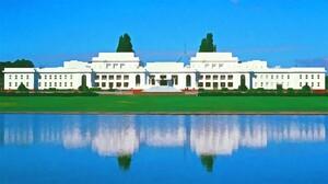 Australia Building Canberra Parliament Reflection 1920x1080 wallpaper
