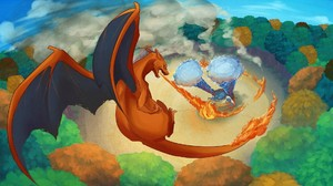 Charizard Pokemon Blastoise Pokemon 1920x1080 Wallpaper