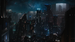 Foundation Science Fiction Futuristic City Skyscraper Skyscape Mist Traffic Lights Lights Architectu 1920x960 Wallpaper