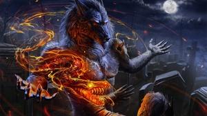 Dark Werewolf 2000x1429 wallpaper