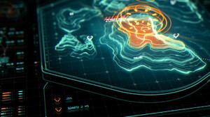 Instrumentation 3D Render Hologram Map Turquoise 1920x1354 Wallpaper