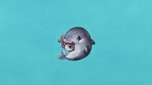 Dolphin Fish Humor 1920x1080 Wallpaper