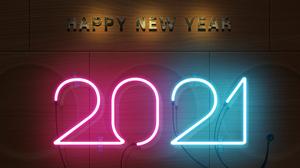 Neon Sign New Year 2021 Year Neon 4000x3000 Wallpaper