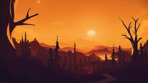 Digital Art Landscape Sunset Mountains RmRadev 3000x2000 wallpaper