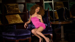 Women Legs Pink Dress Heels 3000x2000 Wallpaper