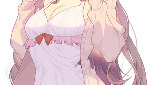 Anime Anime Girls Digital Art Artwork 2D Portrait Display Vertical Jun Artist Long Hair Blonde Blue  1919x4000 Wallpaper