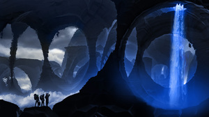 Post Apocalyptic Romantically Apocalyptic Underground Waterfall 1920x946 Wallpaper