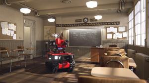 Robot Firefighters Blender Angatec Firefighter Robot TEC800 Fire Vehicle 3840x2160 Wallpaper