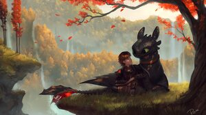 Dragon Hiccup How To Train Your Dragon How To Train Your Dragon Toothless How To Train Your Dragon 3000x2000 wallpaper