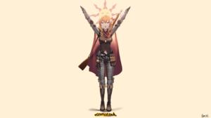 Dark Souls Mosin Nagant Girls Frontline Solaire Of Astora Knight Armor Gar32 2560x1440 Wallpaper