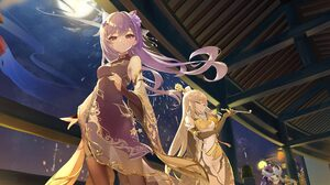 Genshin Impact Anime Games Anime Girls Low Angle 1920x1080 wallpaper