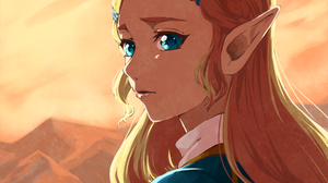 Aqua Eyes Blonde Pointed Ears The Legend Of Zelda Breath Of The Wild Zelda 2700x2250 Wallpaper