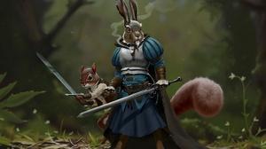 Squirrel Sword Rodent 1920x1300 Wallpaper
