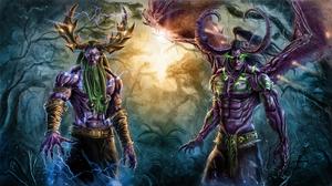 Demon Druid Illidan Stormrage Malfurion Stormrage World Of Warcraft 1920x1080 Wallpaper