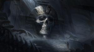 Bones Dark Egyptian Ruin Skull 1920x1080 Wallpaper