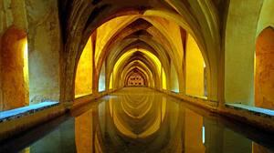 Arch Architecture Interior Reflection Water 6144x3840 Wallpaper