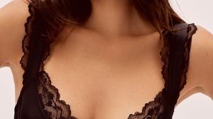 Kelsey Merritt Women Model Asian Women Indoors Simple Background Brunette 1621x2160 Wallpaper