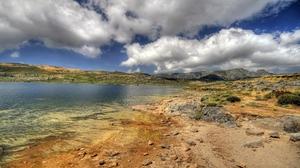 Landscape Desert Lake Mountain Sky Cloud 2560x1600 Wallpaper